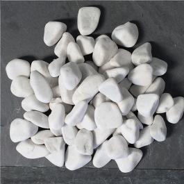 Galets de marbre blanc 24/40