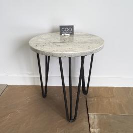 Table basse ronde granit poli D40