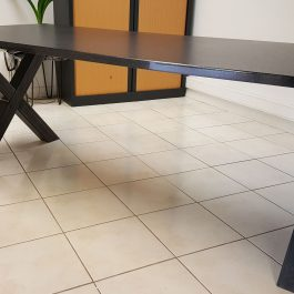 Table rectangle granit finition cuir 200×90