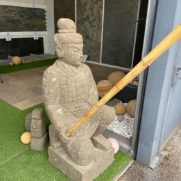 Statue guerrier xian agenouillé 1M50