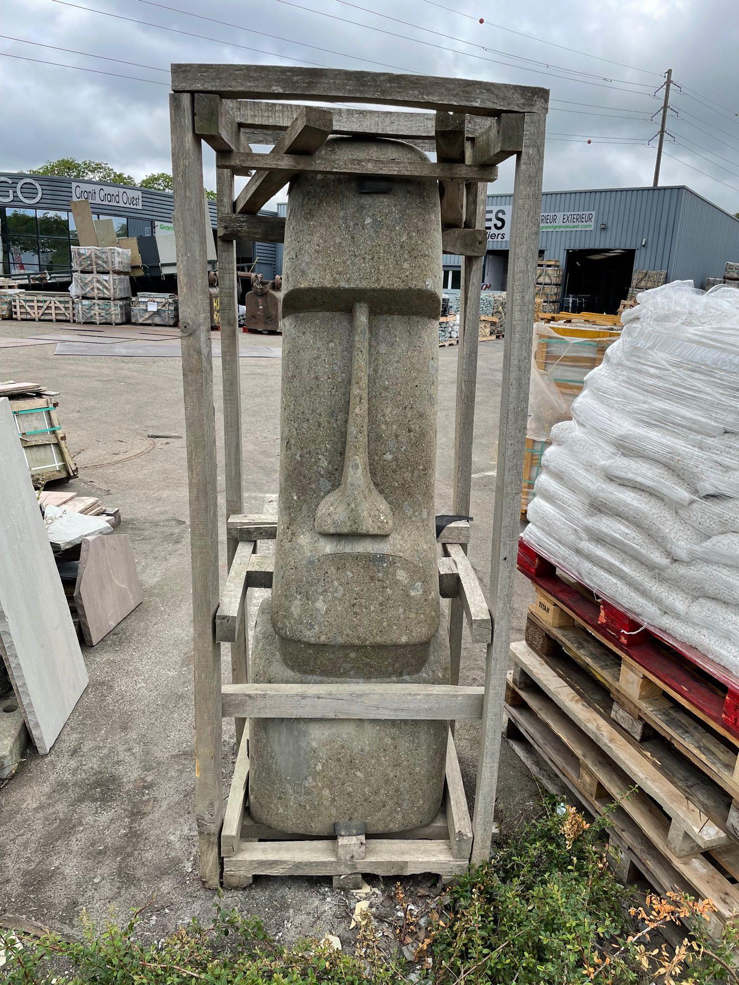 Statue moaï pierre de lave